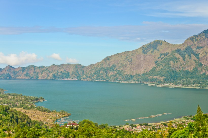 View on Batur volcano and lake, Bali, Indonesia