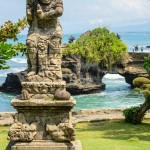 Old statue at Pura Tanah Lot
