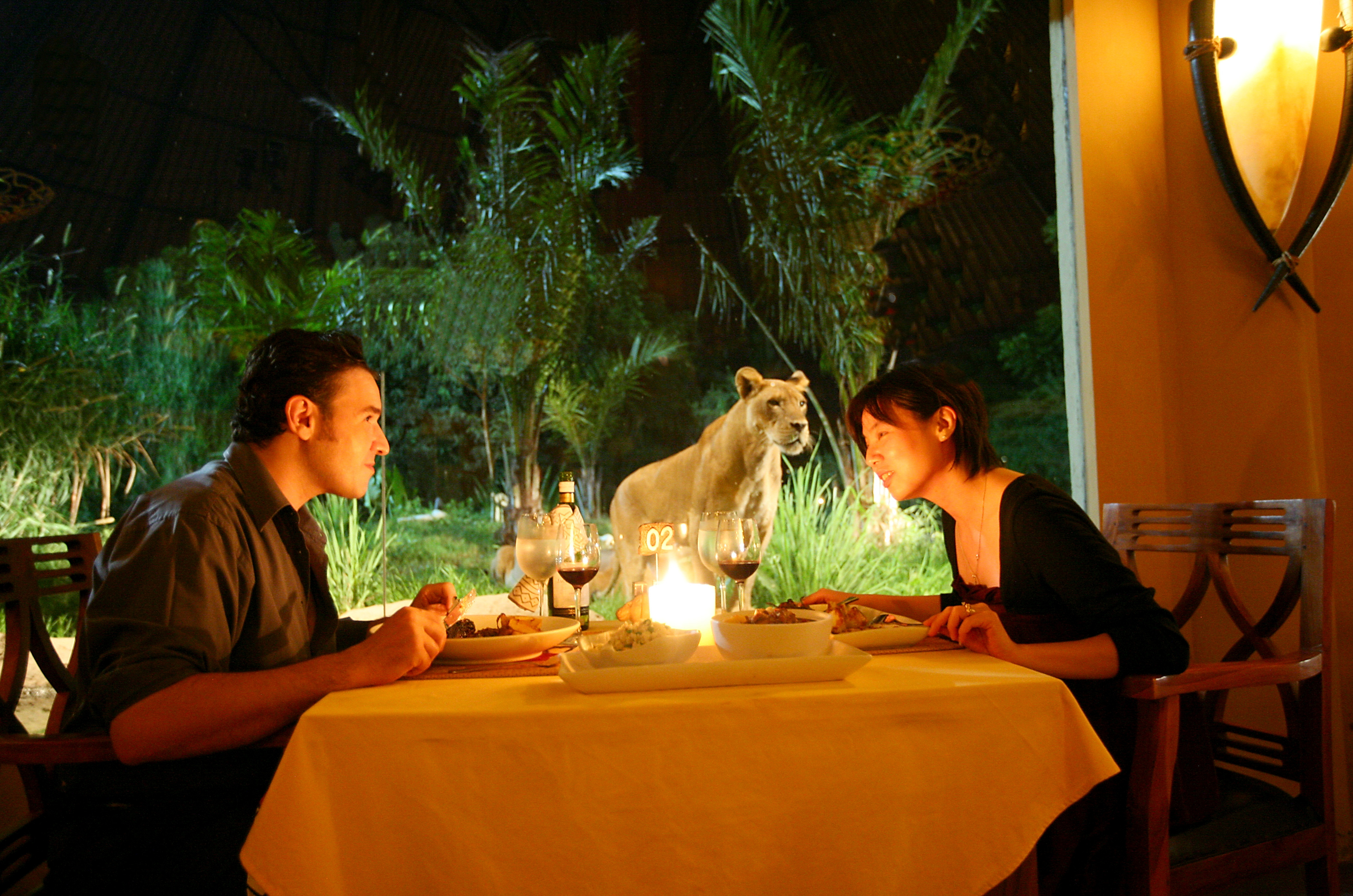 dine on Tsavo  lion restaurant